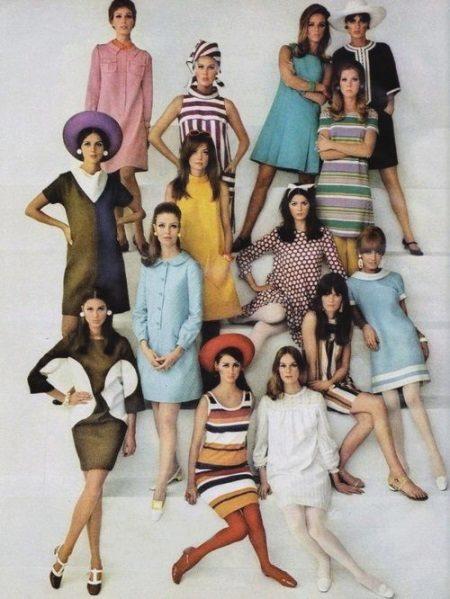 Vestidos curtos 60s