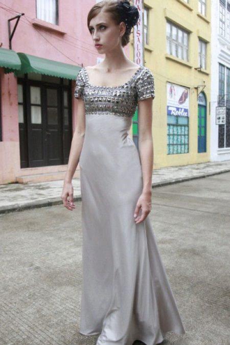 Empire-tyylinen mekko harmaa