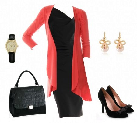 Cardigan vestido preto