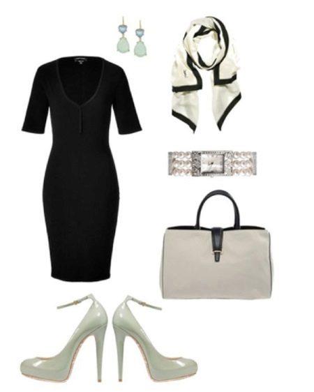 Acessórios de prata para vestido preto