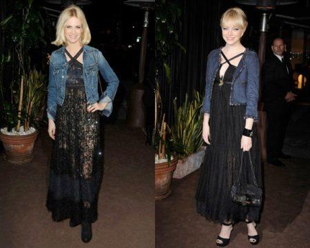 Jaqueta jeans para vestido preto