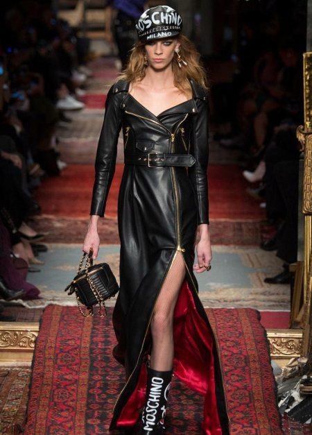 Acessórios para vestido de couro preto