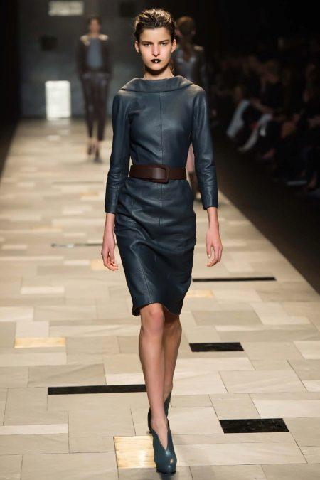 Cinto para vestido de couro preto