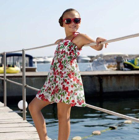 Nyári ruha sundress virág a lányok számára