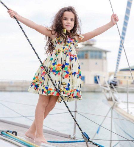 Vestido de verão para meninas em tiras