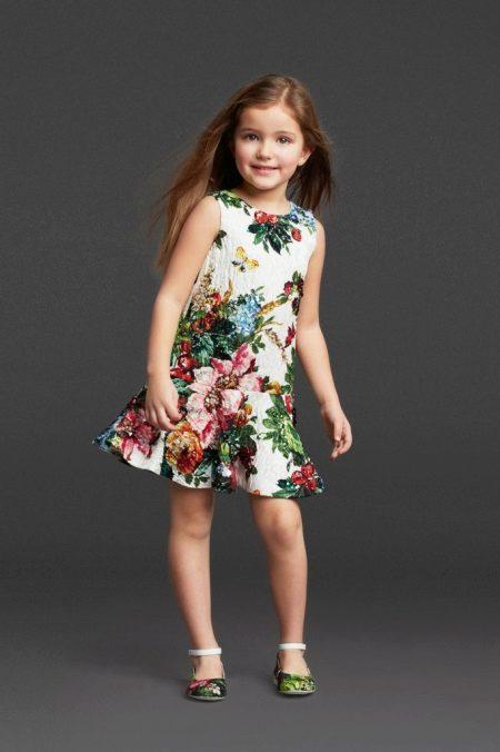 Sereia de vestido elegante de verão para meninas