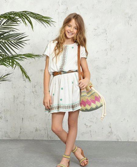 Vestido para meninas de 13 a 14 anos no estilo boho