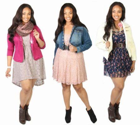 Vestidos para uma menina adolescente cheia