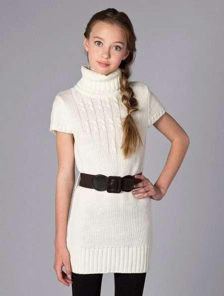 Vestido de camisola de malha para adolescentes