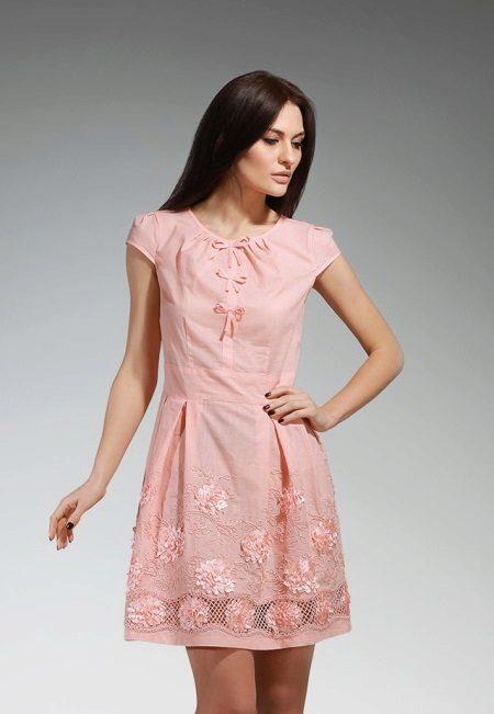 vestido de camurça pêssego