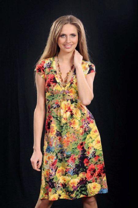 vestido de chita com estampa floral