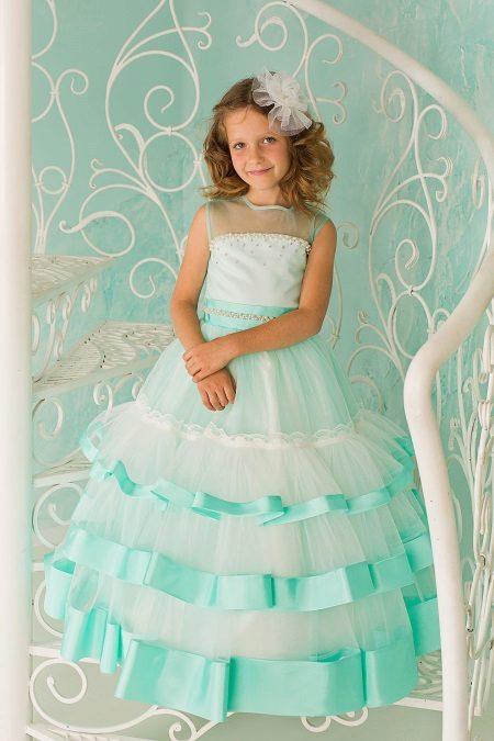 vestido de baile turquesa 4ª série