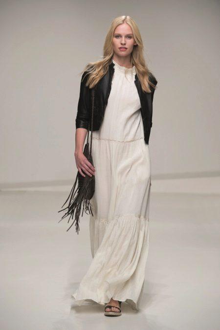 Uzun beyaz elbise ceket