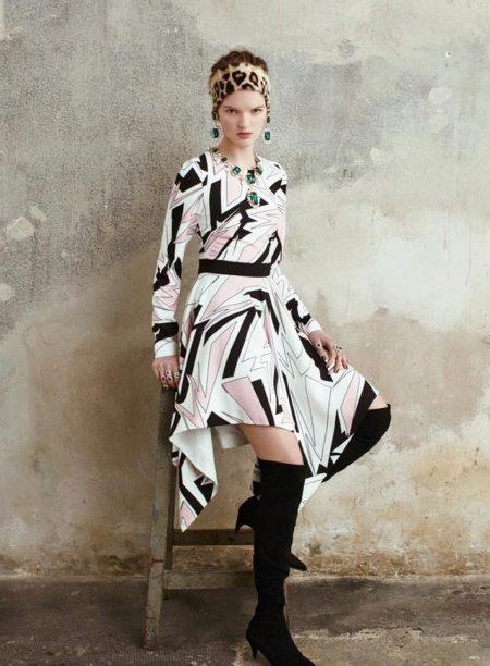 Siyah-Beyaz Elbise Çizme