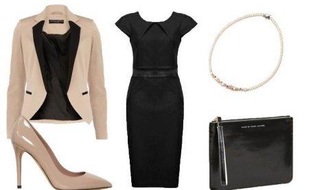 acessórios bege para vestido preto