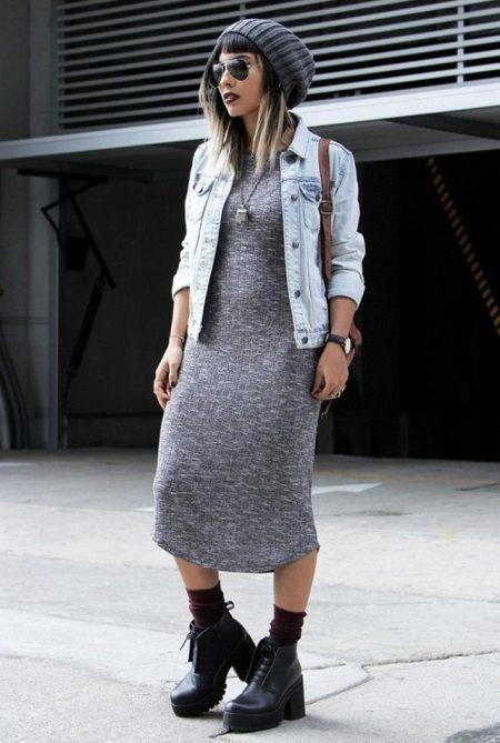 Jeansjas tot midi-jurk in de stijl van boho