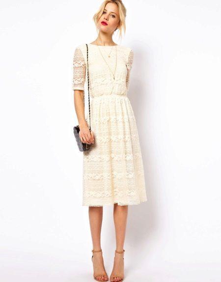 MIDI kanten jurk accessoires