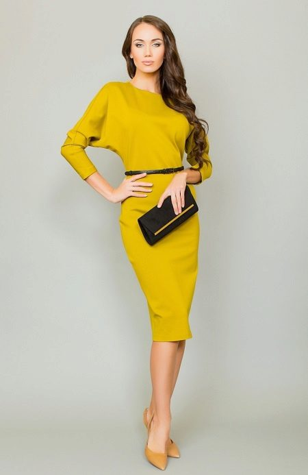Business image in a yellow dress