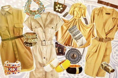Sarı Safari Elbise Aksesuarları