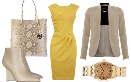 Yellow Dress Pearl Accessories