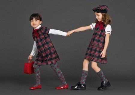 Vestidos de escola xadrez
