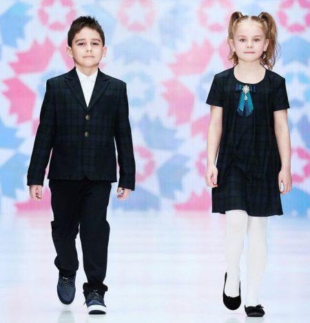 Vestido de escola para o joelho meninas
