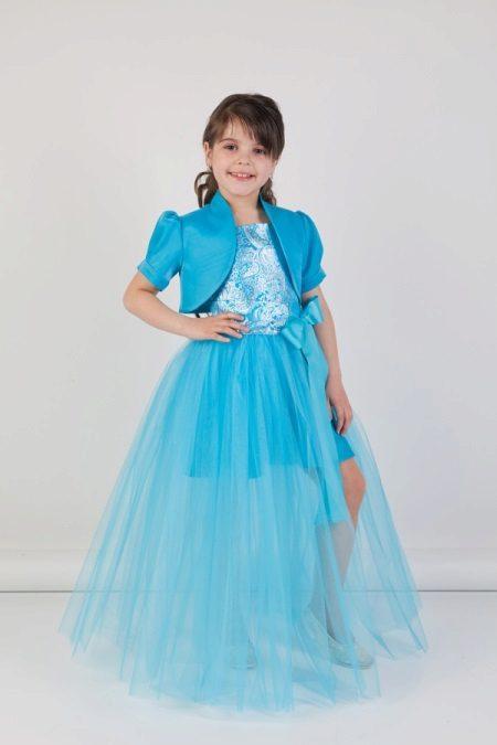 Graduação azul transformando vestido para jardim de infância