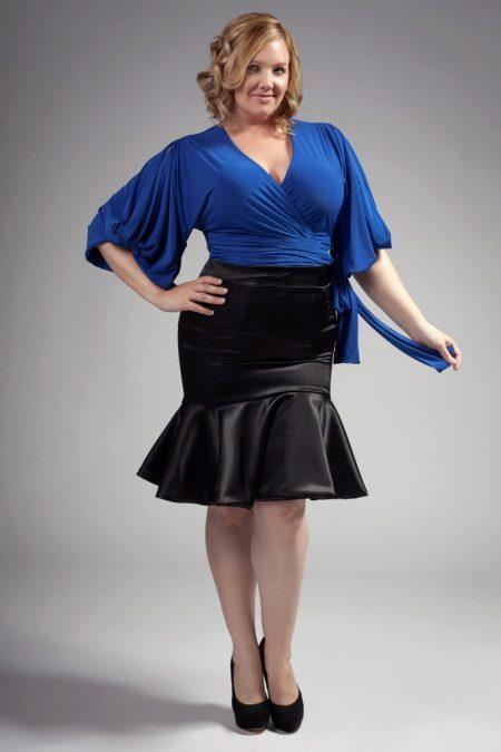 mirada espectacular amb faldilla-any per a dones obeses