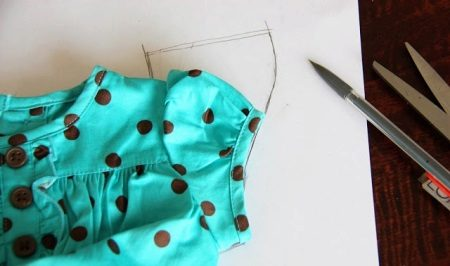 Hüvely minta létrehozása a ruhán