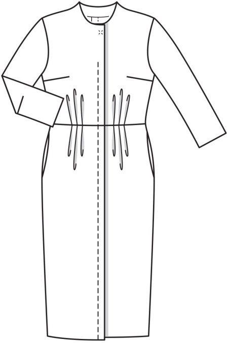 Műszaki rajz vintage ruha