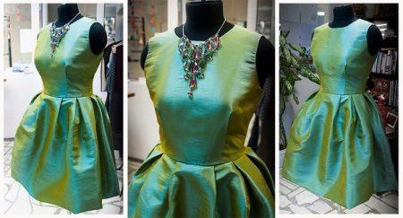 vestido de tafetá shanzhan