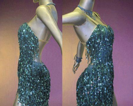 Fringed Latino suknelė