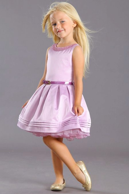 Vestido fofo elegante para meninas de 5 anos