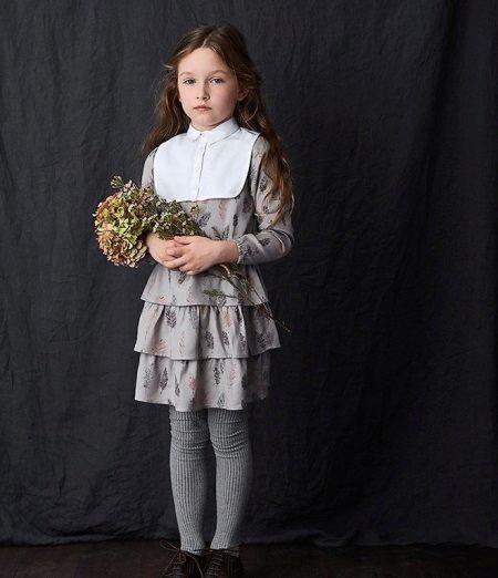 vestido para meninas de 5 anos com babados