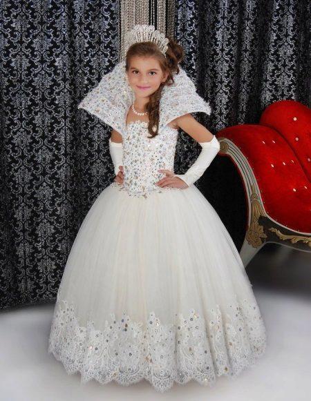 Elegante vestido de Natal fofo para meninas