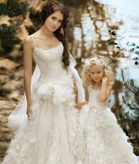 Vestido de casamento elegante fofo para meninas