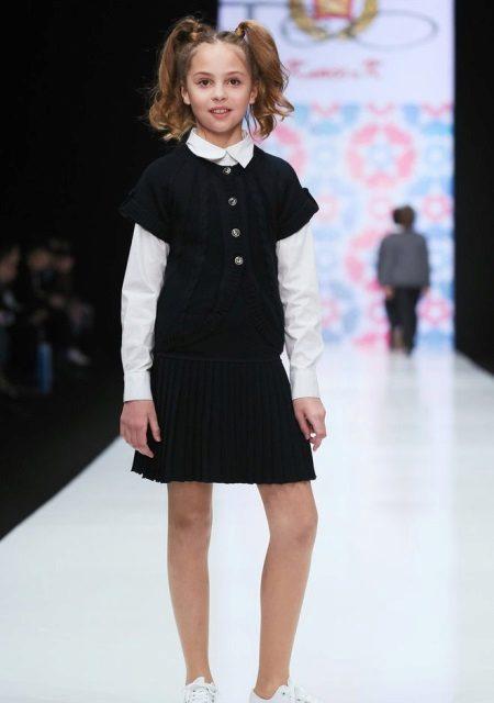 Vestido de escola de inverno para meninas