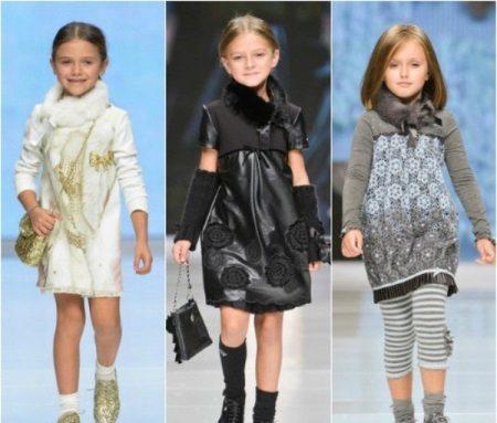 Vestido de inverno com pele para meninas