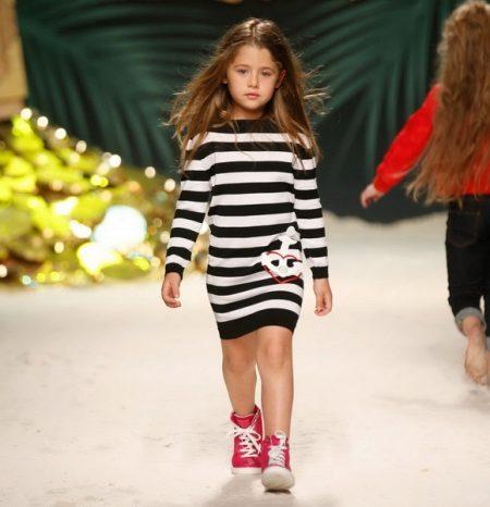 Vestido de malha de inverno para meninas