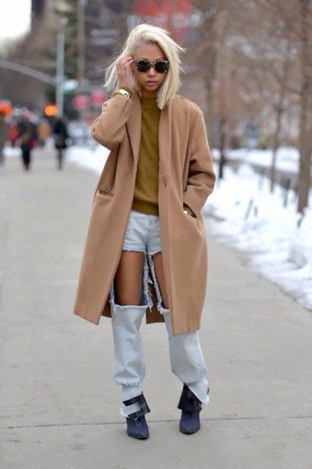 kleid mit mantel kombination